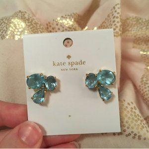 kate spade blue stud earrings nwt